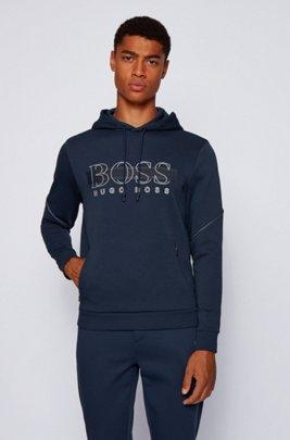Hooded sweatshirt with reflective details, Dark Blue