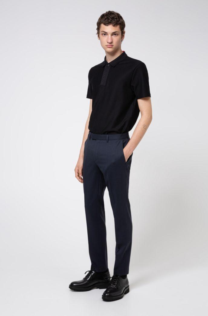 Cotton-piqué polo shirt with Aircool finishing