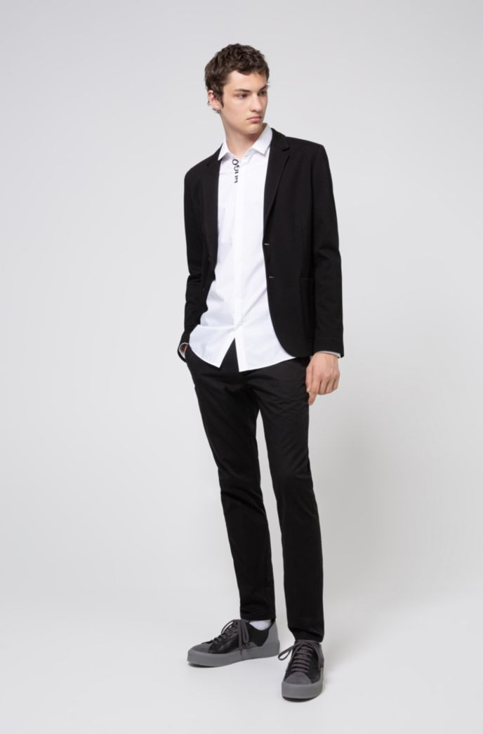 Extra-slim-fit jacket in stretch jersey