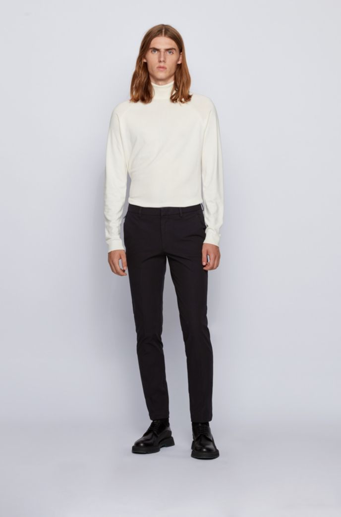 Slim-fit pants in travel-friendly stretch twill