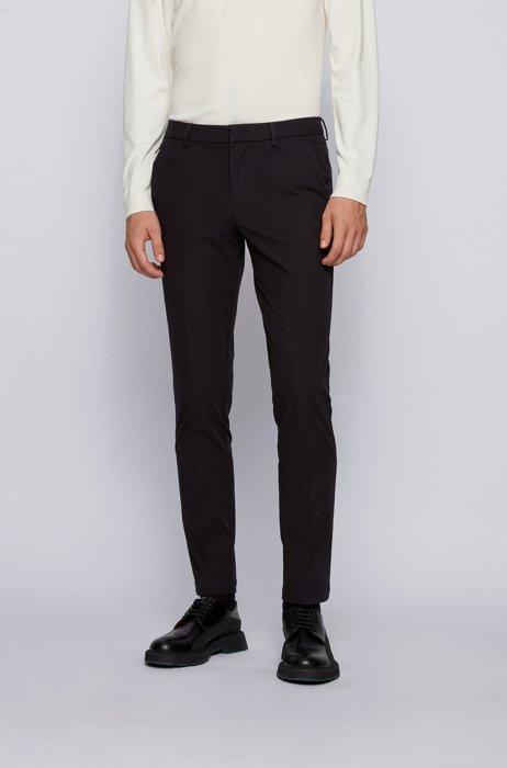 Slim-fit pants in travel-friendly stretch twill, Black