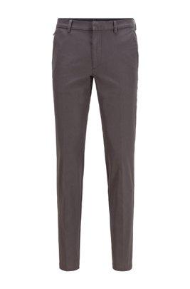 Slim-fit pants in travel-friendly stretch twill, Grey