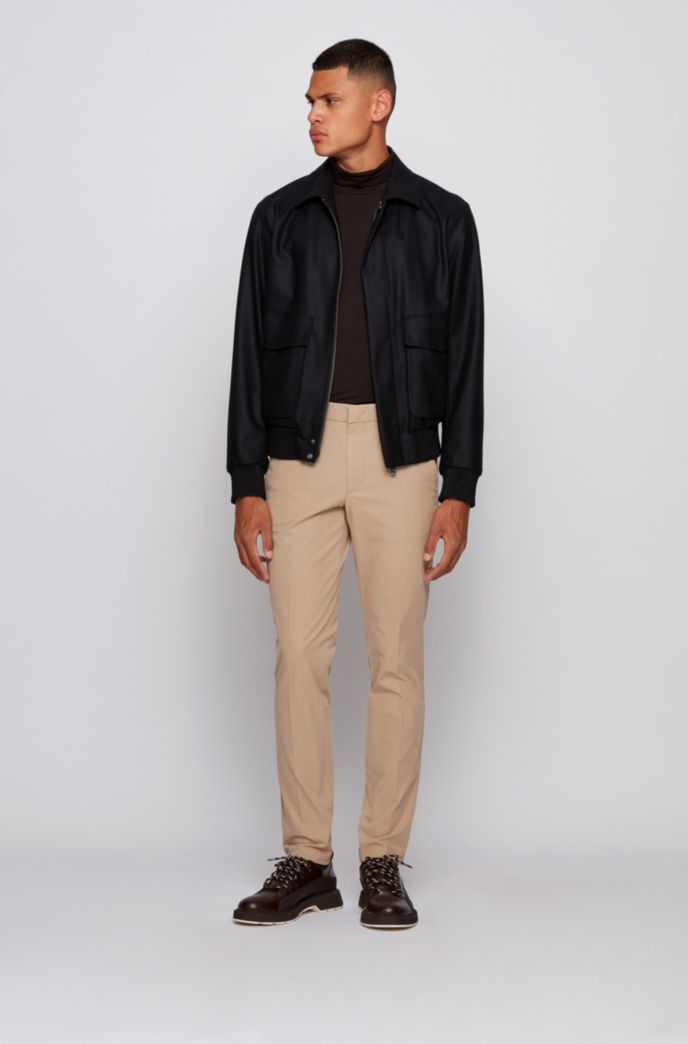 Slim-fit pants in travel-friendly stretch twill