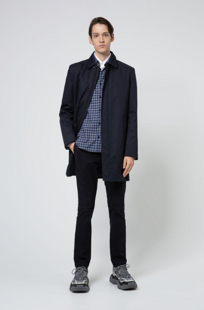 Slim-fit shirt in Glen-check cotton flannel