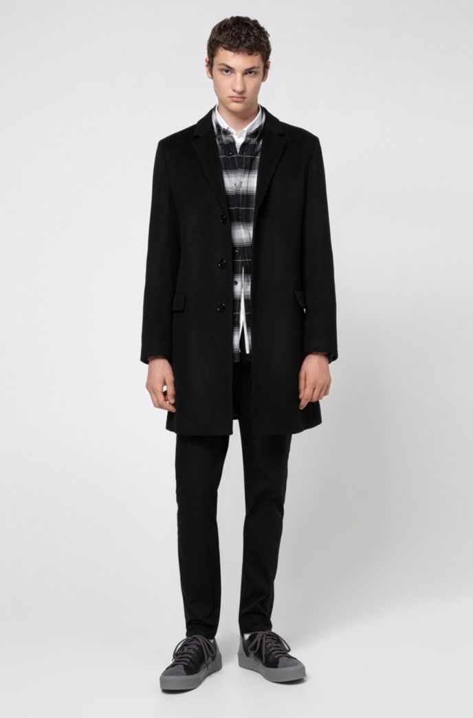 Relaxed-fit shirt in cotton flannel with Glen check
