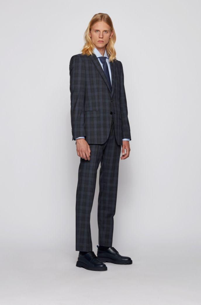 Slim-fit suit in Glen-check virgin wool