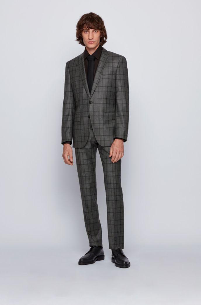 Slim-fit suit in checkered virgin wool