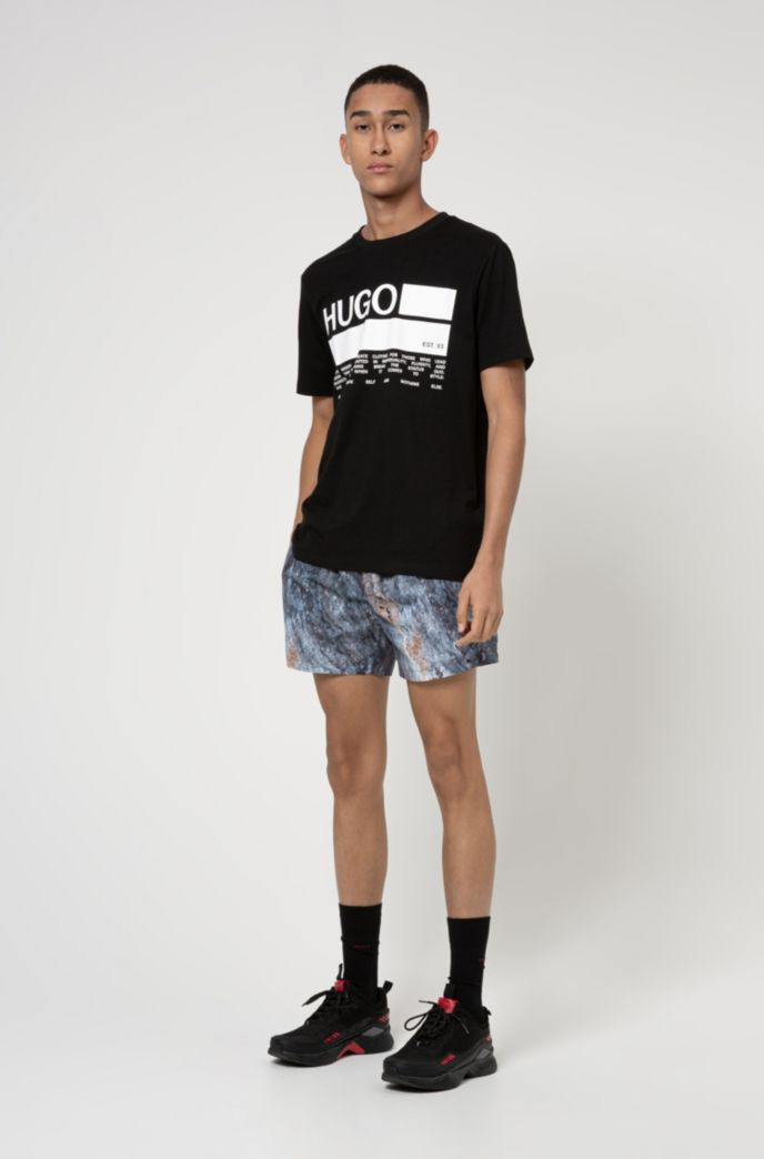 Manifesto-print T-shirt in African cotton