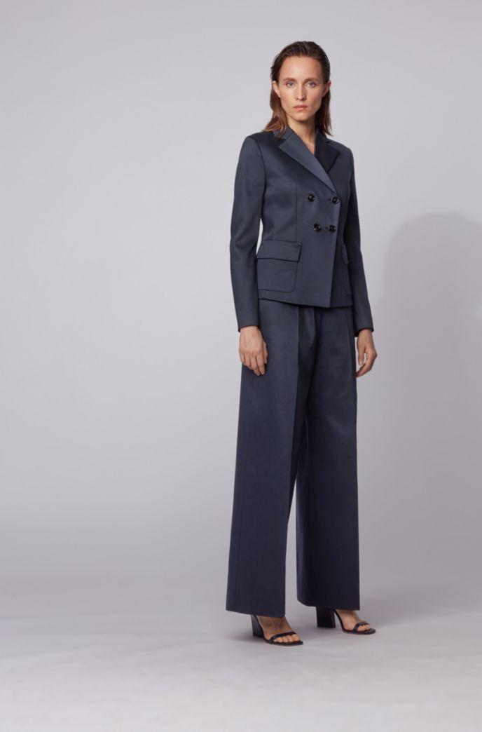 Slim-fit jacket in stretch-cotton twill