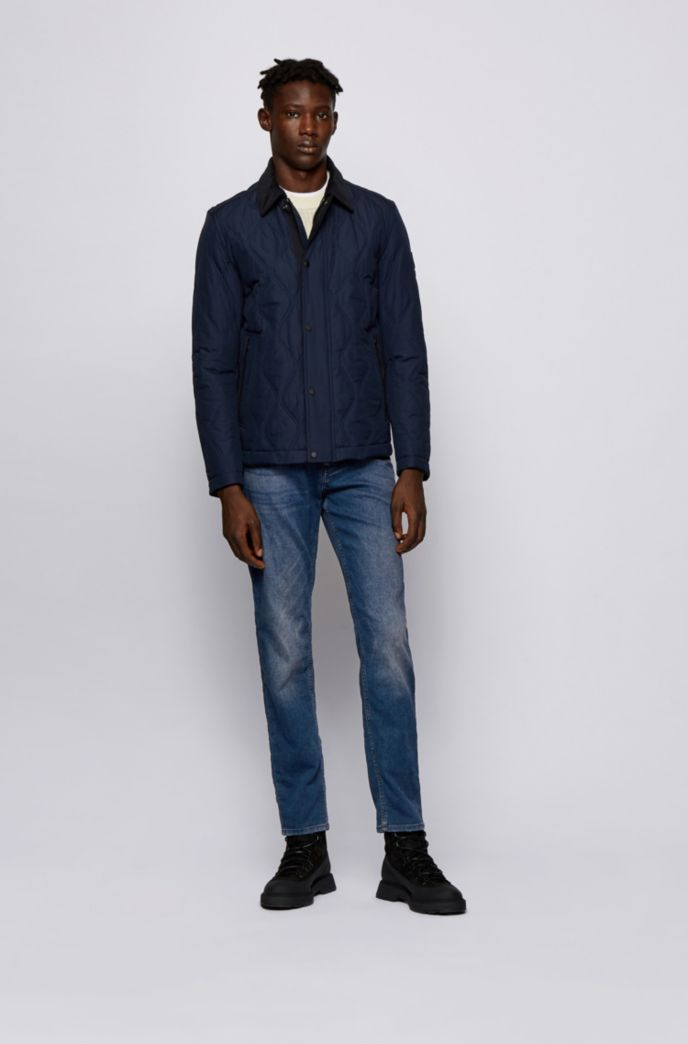 Tapered-fit jeans in vintage-look knitted denim