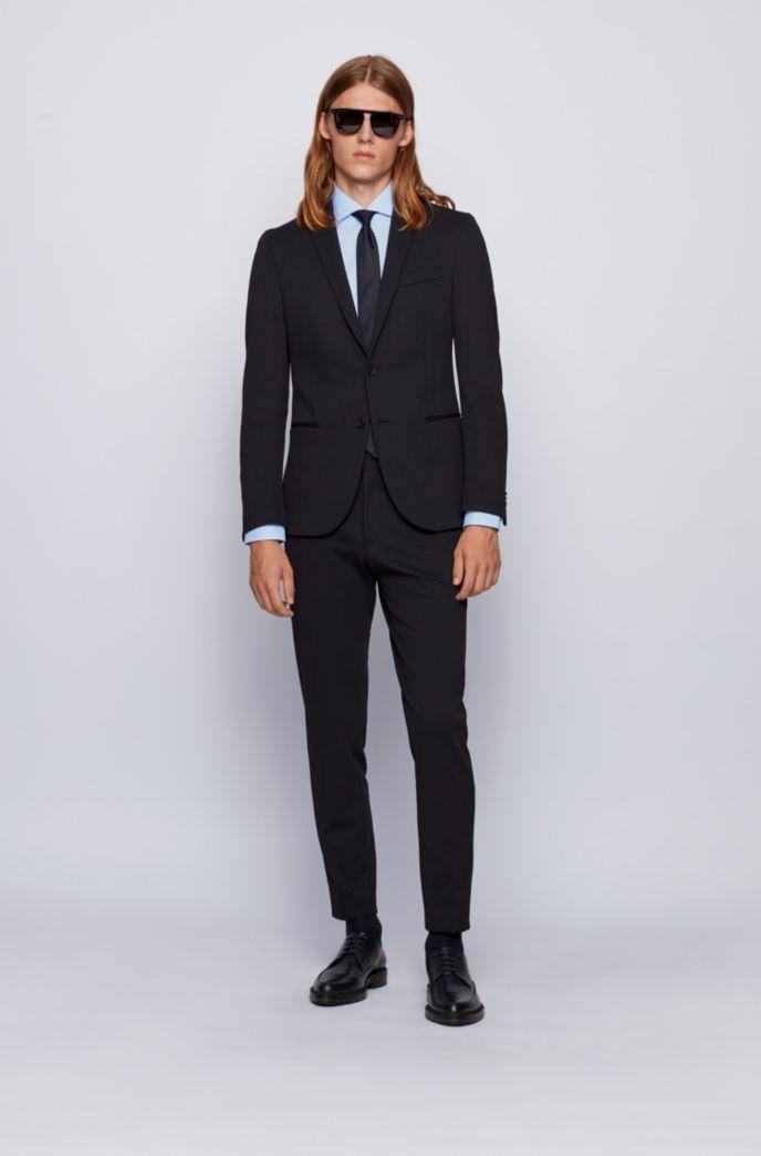 Slim-fit gingham shirt in easy-iron cotton poplin