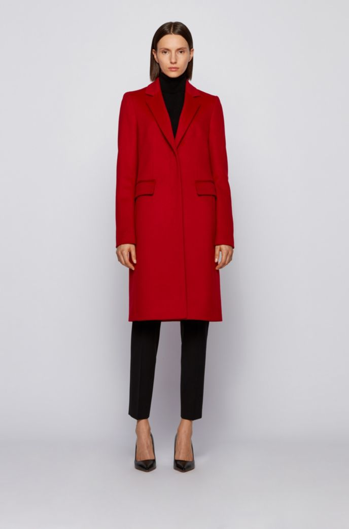 Formal coat in Italian virgin wool with cashmere