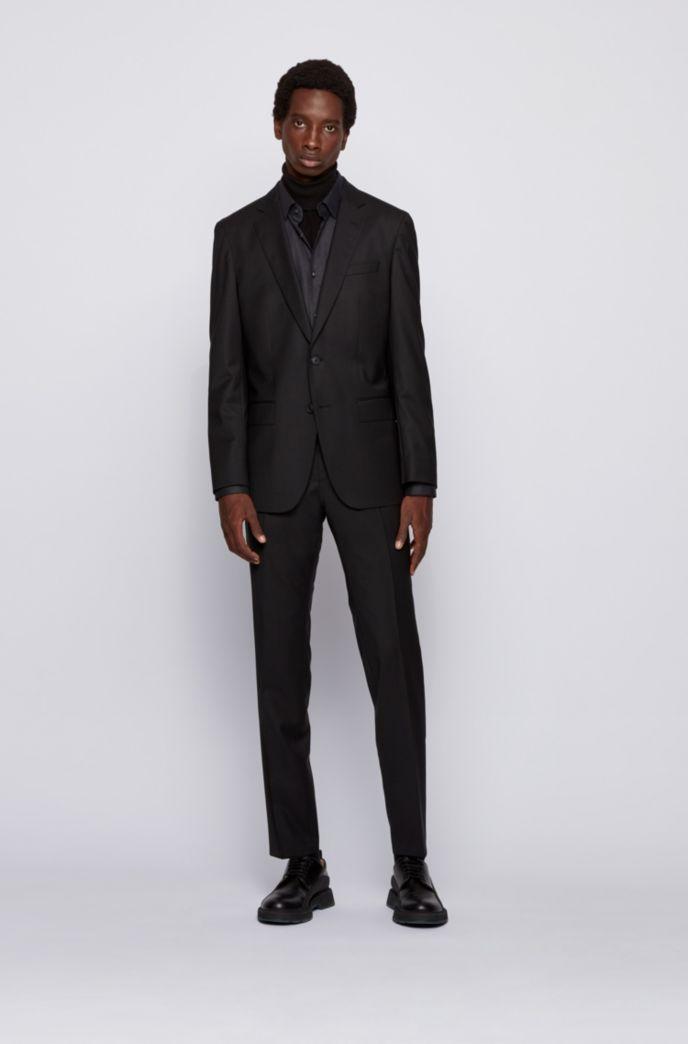 Slim-fit shirt in stretch-cotton twill