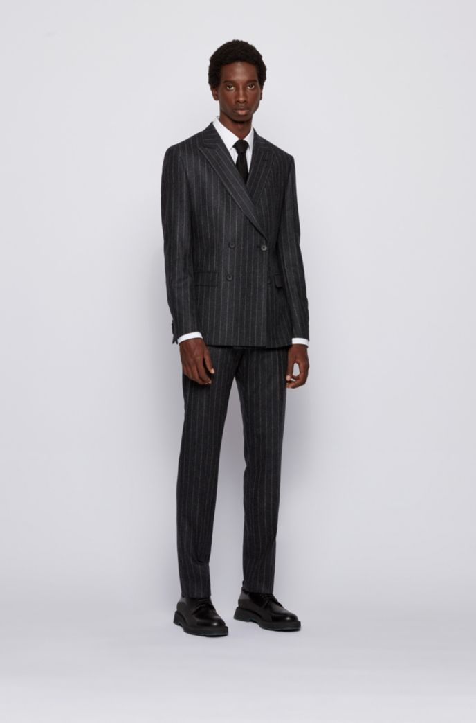 Slim-fit suit in pinstripe virgin wool