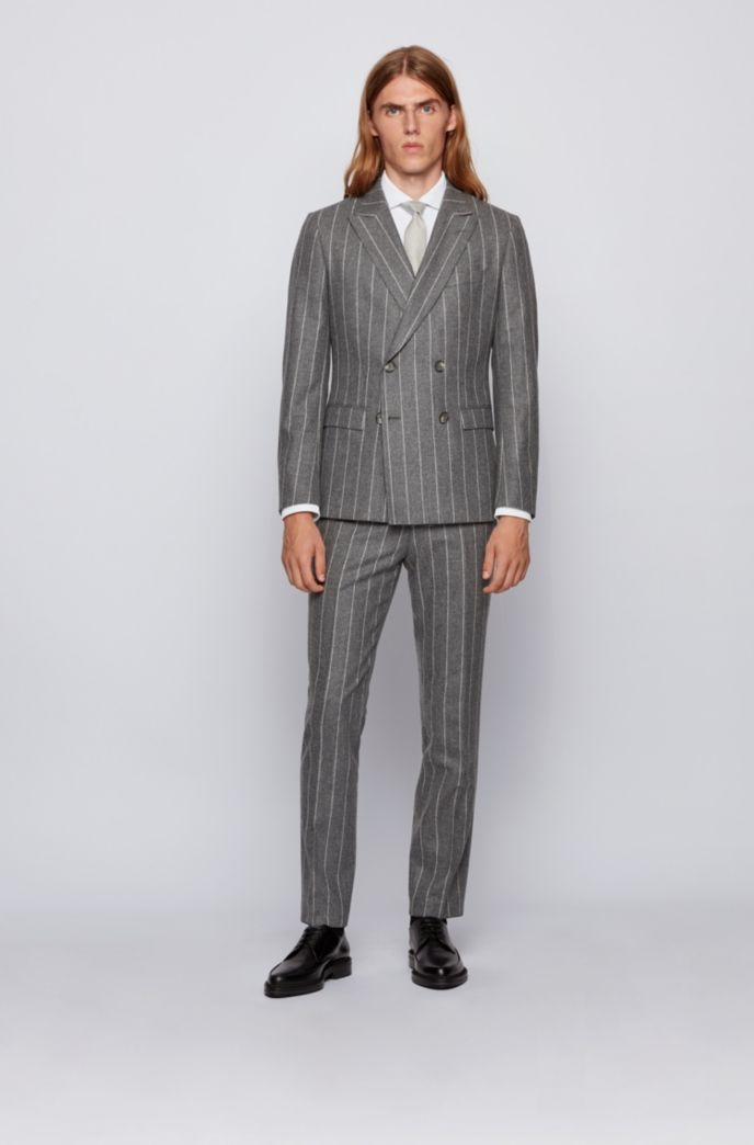Slim-fit shirt in Italian performance-stretch fabric