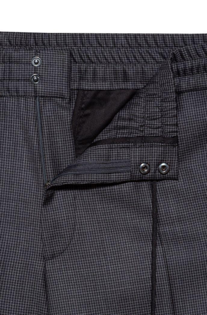 Extra-slim-fit pants in micro-patterned virgin wool