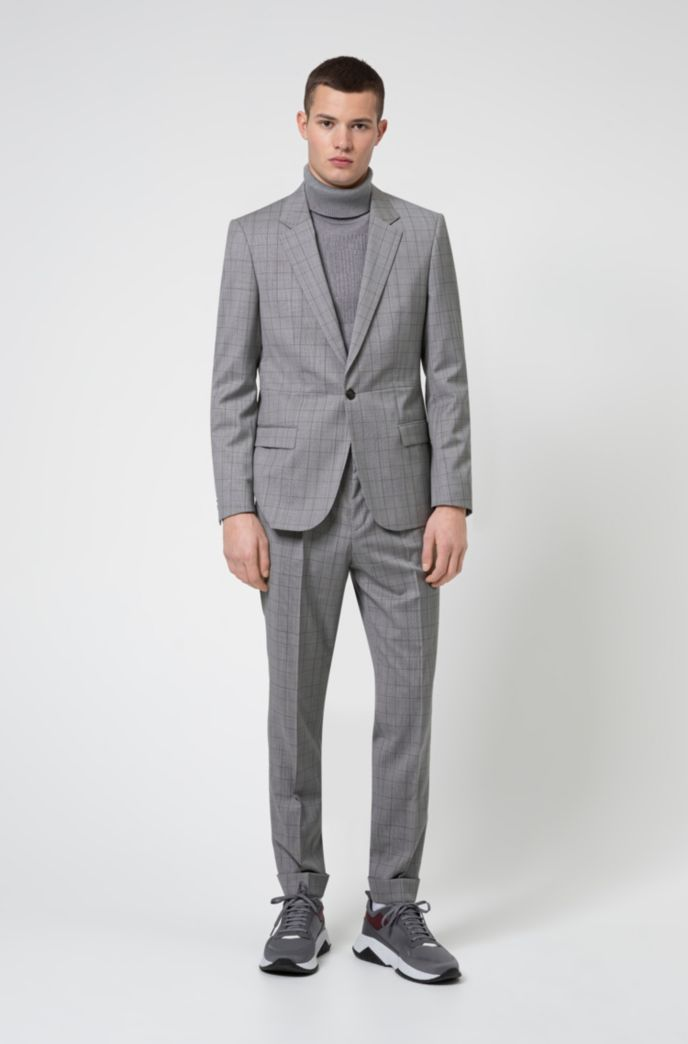 Slim-fit suit in virgin-wool serge