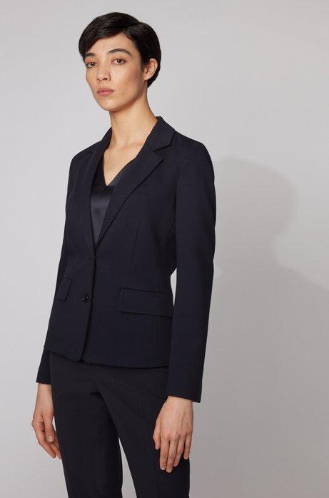 Regular-fit jacket in Italian stretch jersey, Light Blue