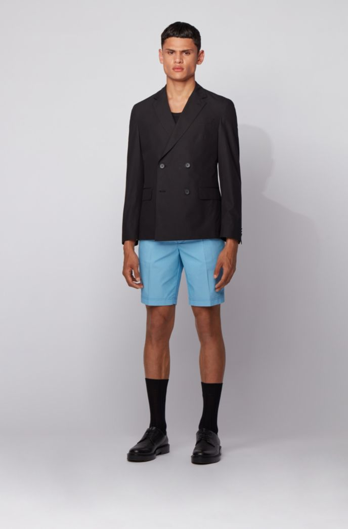 Slim-fit shorts in a cotton blend