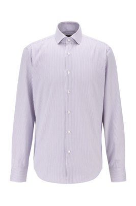 Regular-fit shirt in thermo-regulating fabric, Purple
