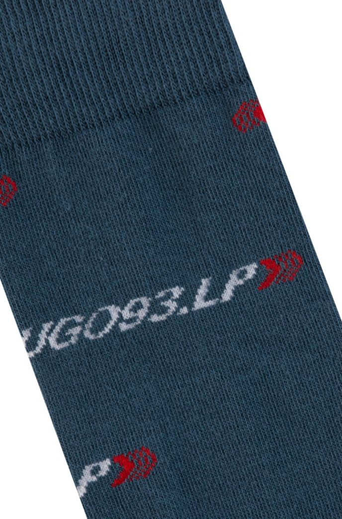 Cotton-blend socks with collection branding