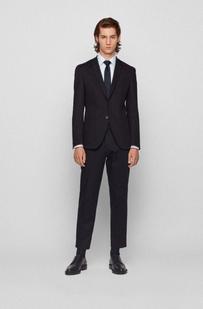 Slim-fit shirt in pinstripe cotton twill