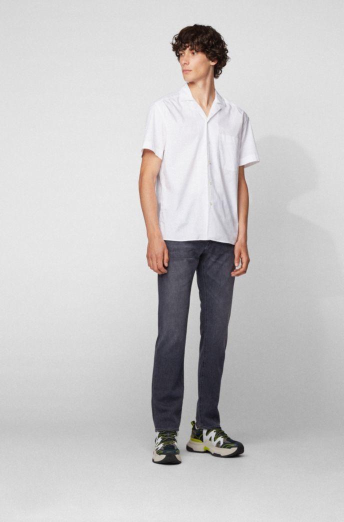 Regular-fit jeans in lightweight gray Italian denim