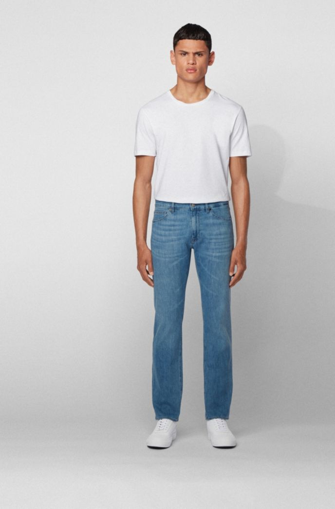 Regular-fit jeans in lightweight Italian denim