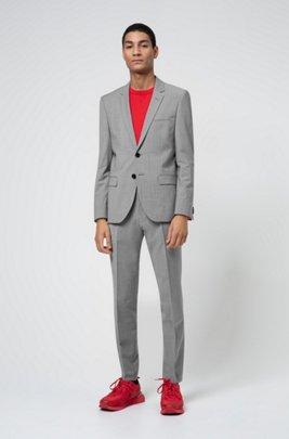 Extra-slim-fit suit in a wool blend, Dark Grey