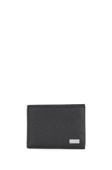 Billfold billfold in grained Italian leather, Black