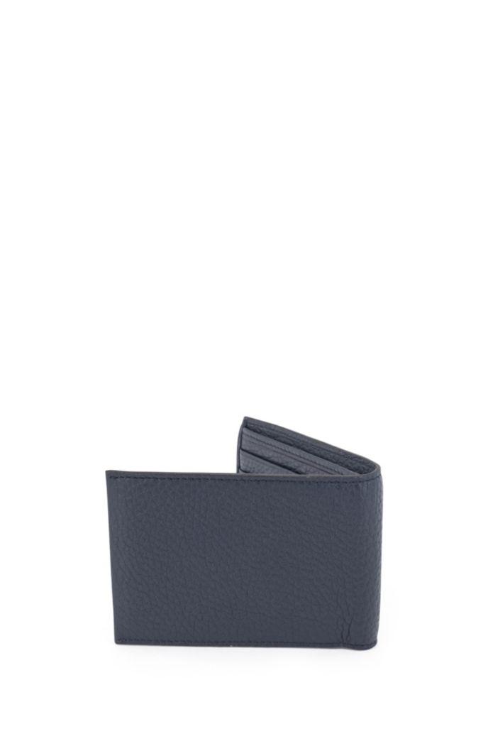 Billfold billfold in grained Italian leather
