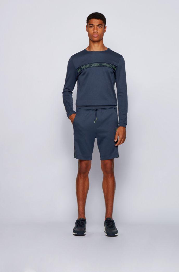 Slim-fit sweatshirt in a cotton blend