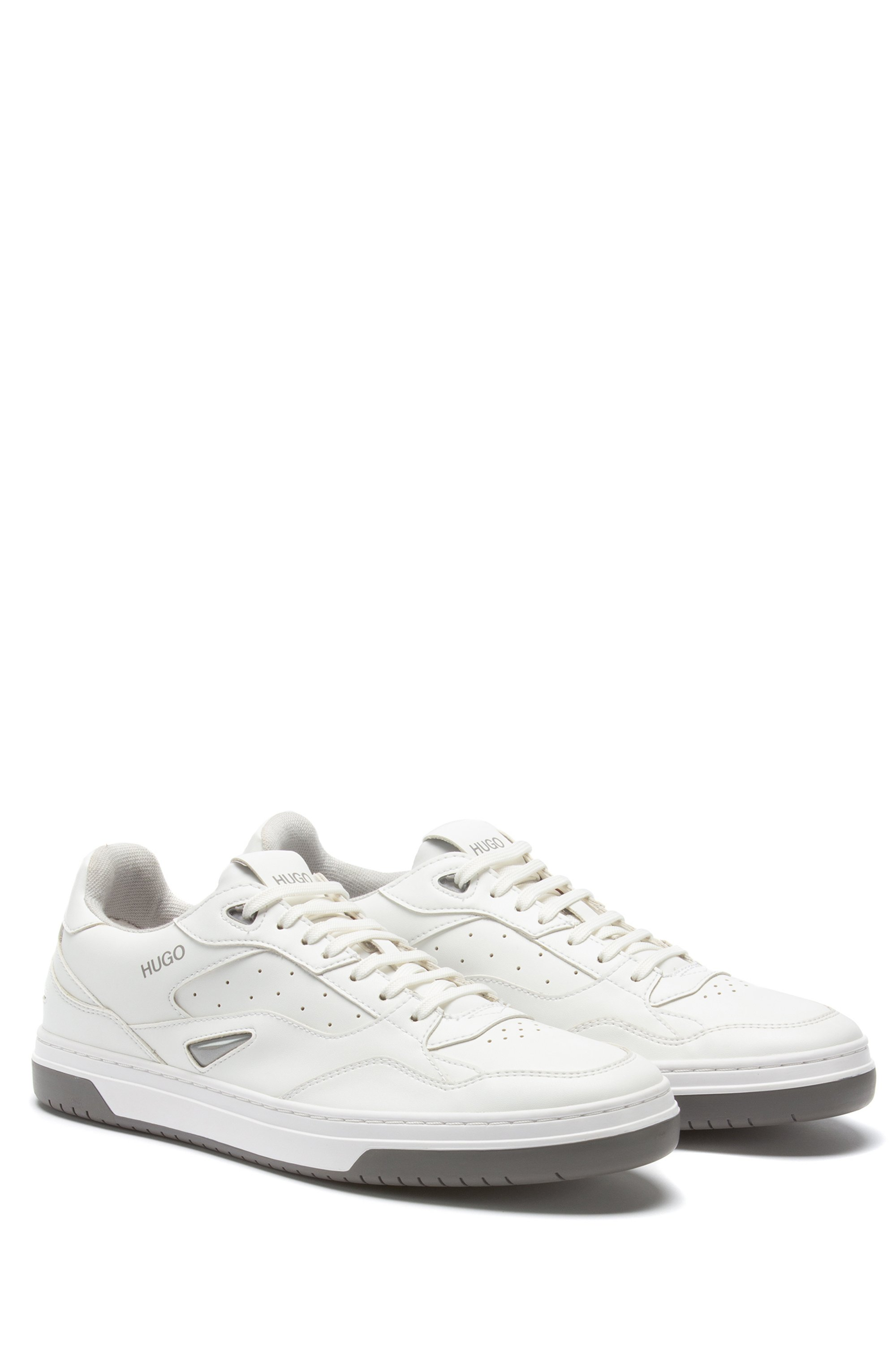 Skate-inspired trainers with bonded-leather uppers