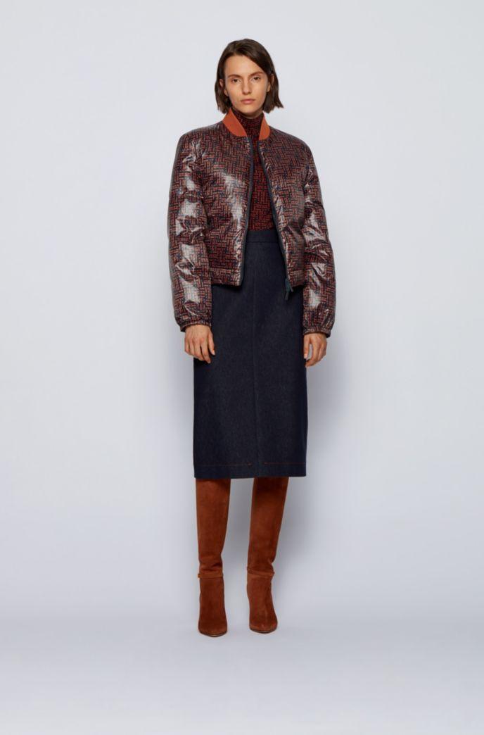 Reversible down jacket in water-repellent fabric