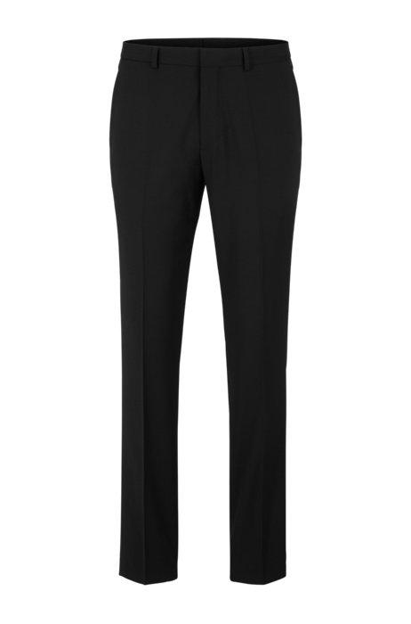 Pantalon Extra Slim Fit en tissu bi-stretch, Noir