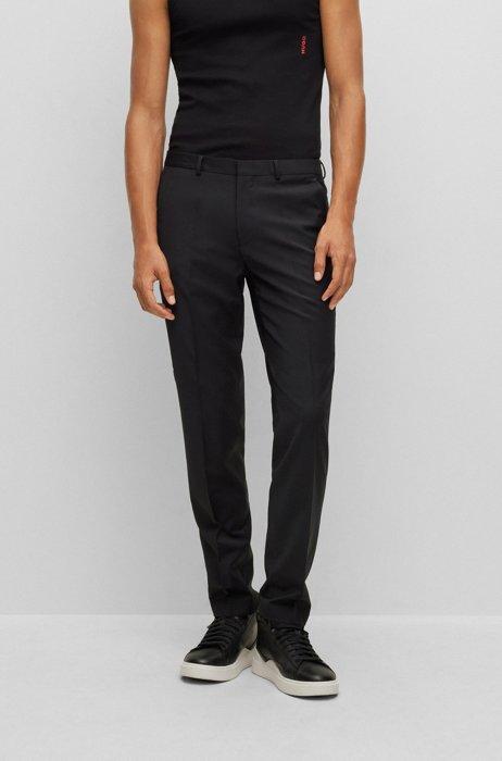 Extra-slim-fit pants in bi-stretch fabric, Black