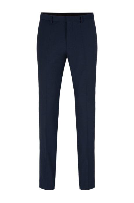 Pantalon Extra Slim Fit en tissu bi-stretch, Bleu foncé