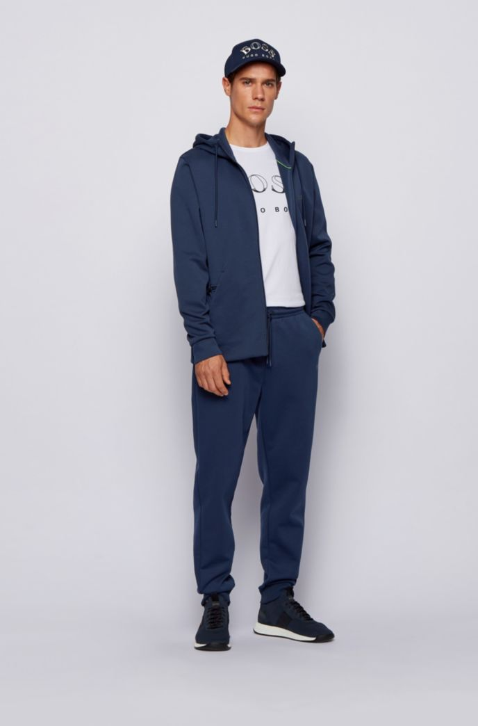 Sweatshirt and jogging pants set in double-faced fabric