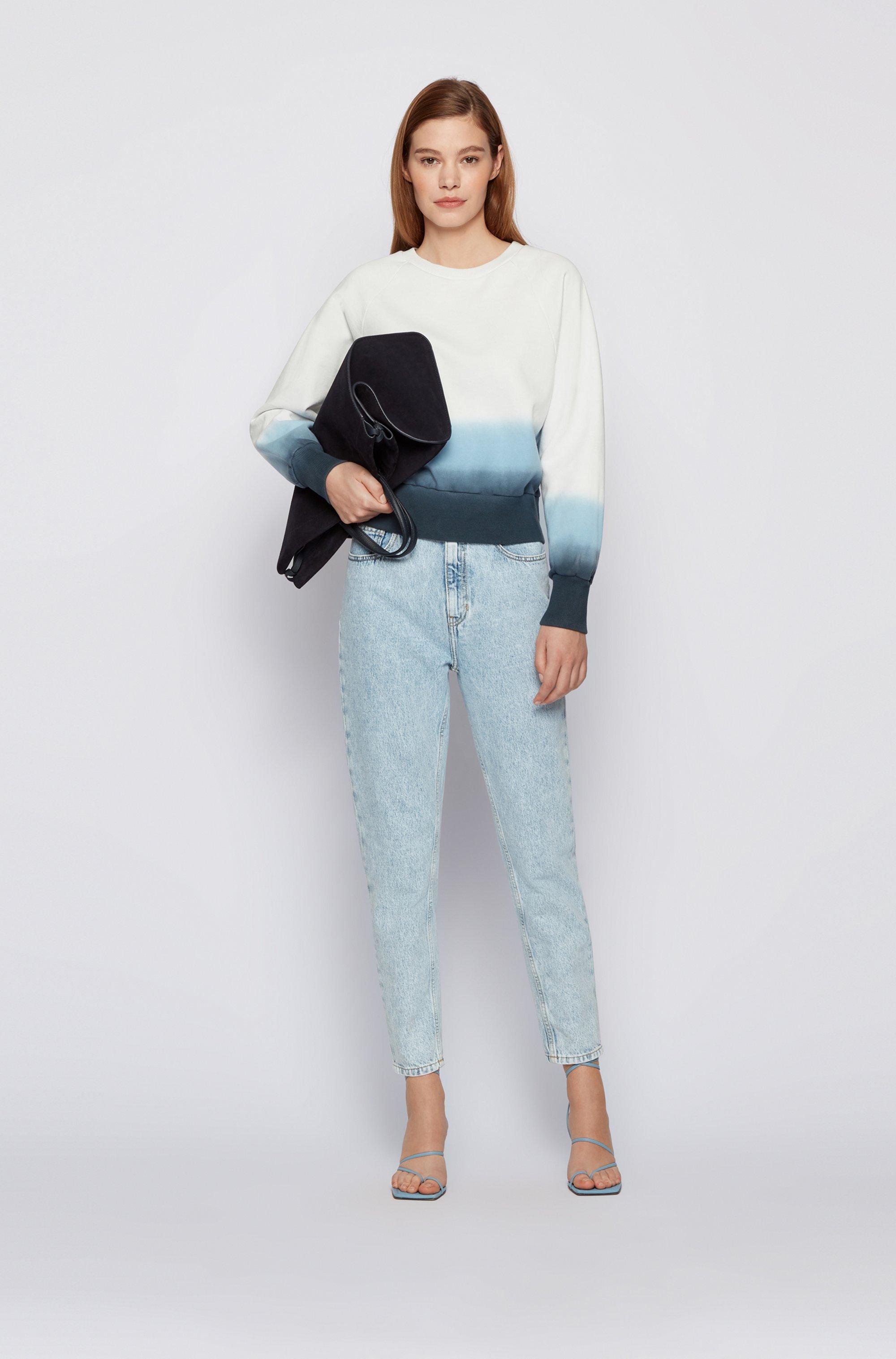 Relaxed-fit dégradé sweatshirt in cotton-blend terry