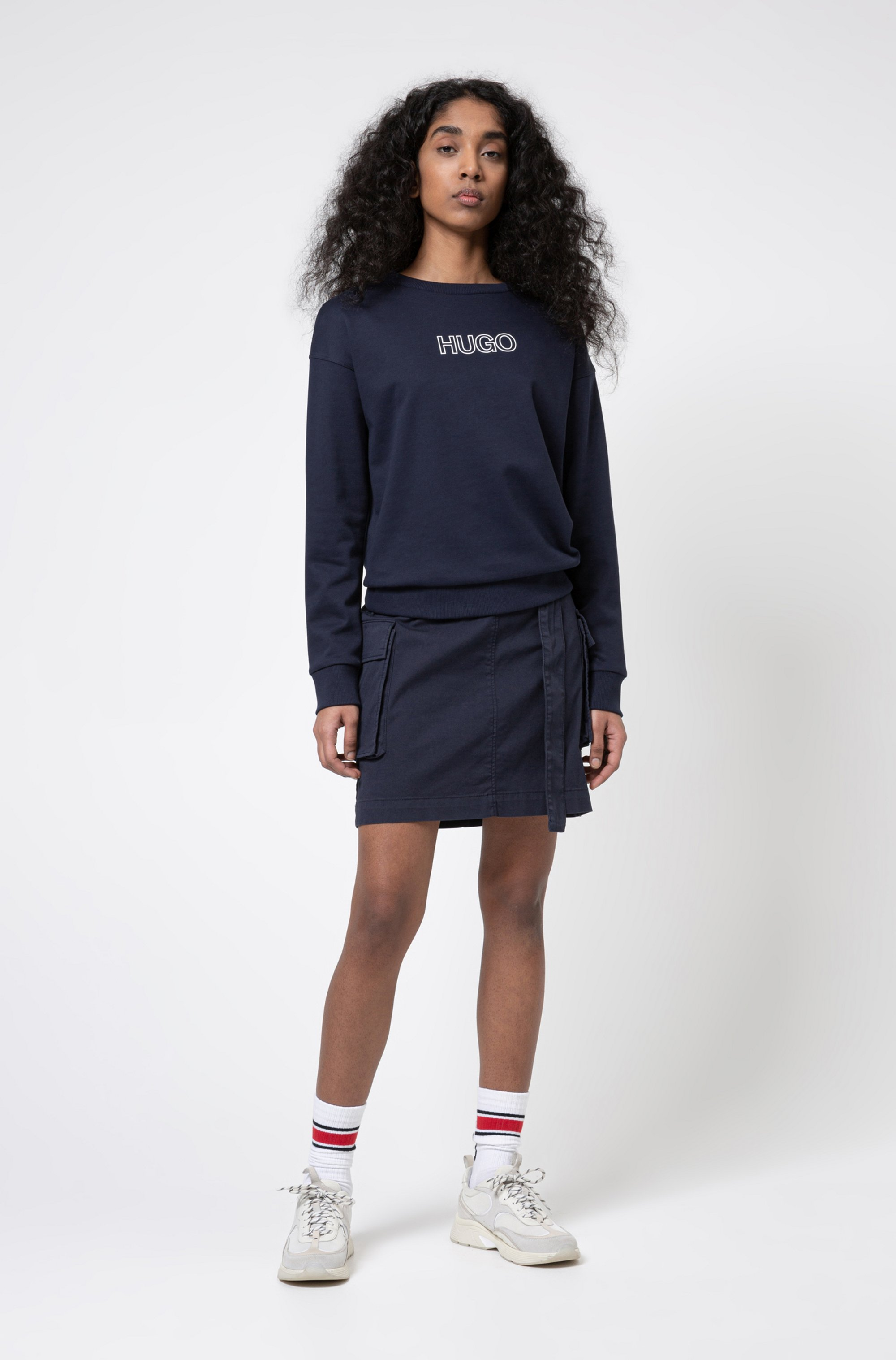 French-terry sweatshirt in organic cotton with 3D logo