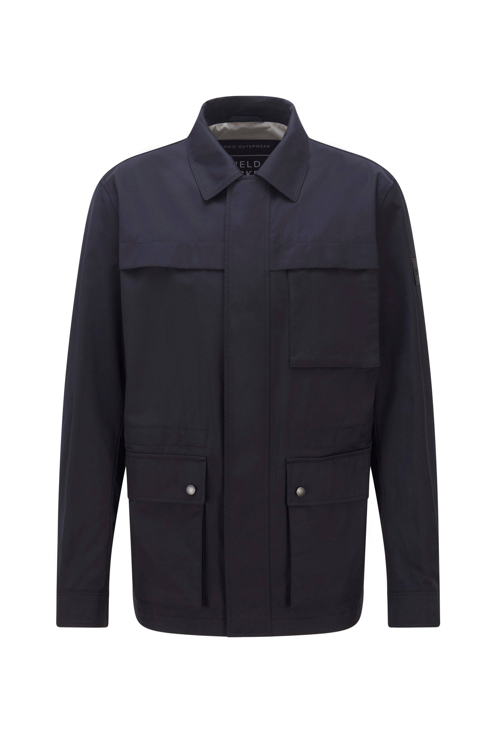 Regular-fit field jacket in a cotton blend, Dark Blue
