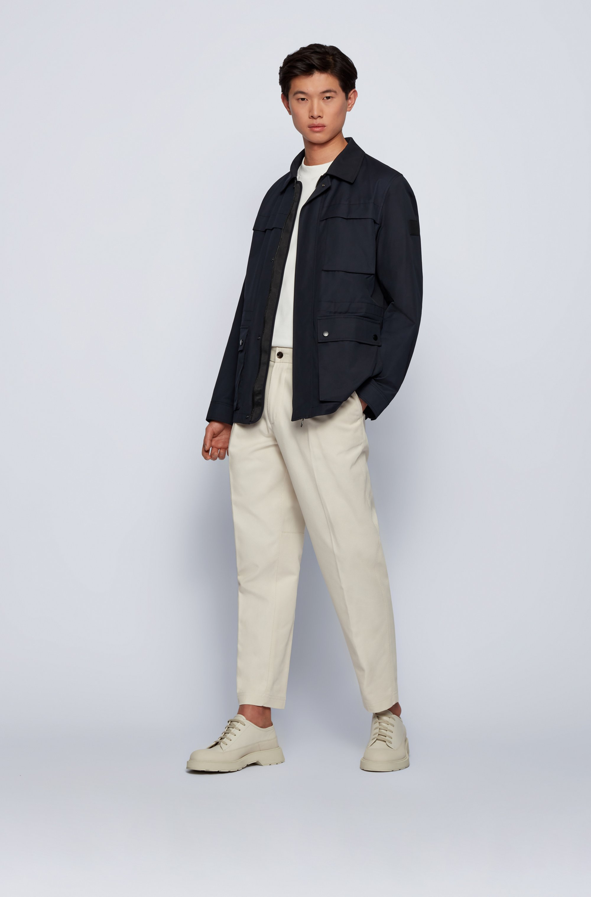 Regular-fit field jacket in a cotton blend