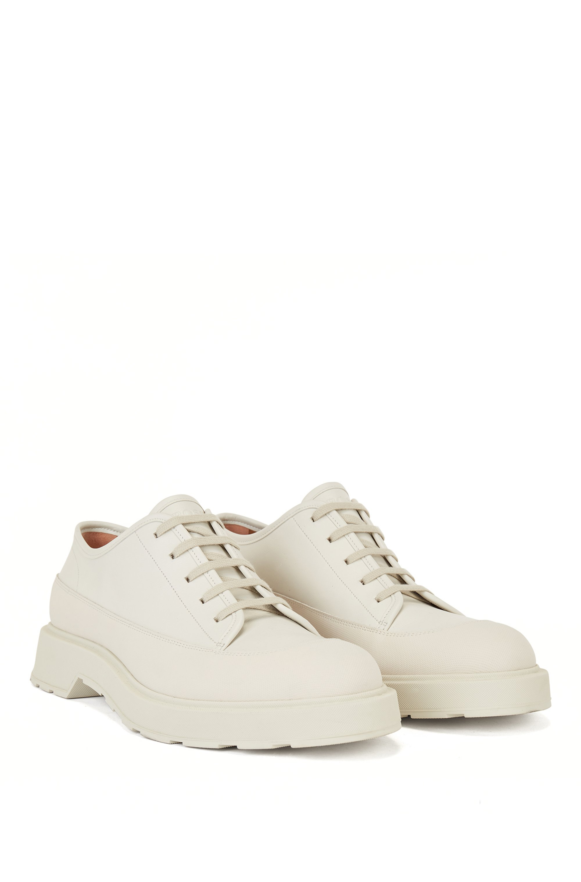 Hybrid Derby shoes in calf leather with lug sole