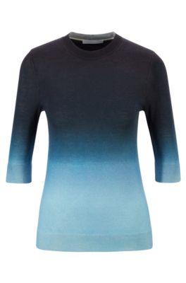 Hugo Boss Wools HUGO BOSS - VIRGIN WOOL SWEATER WITH OMBR PRINT - PATTERNED