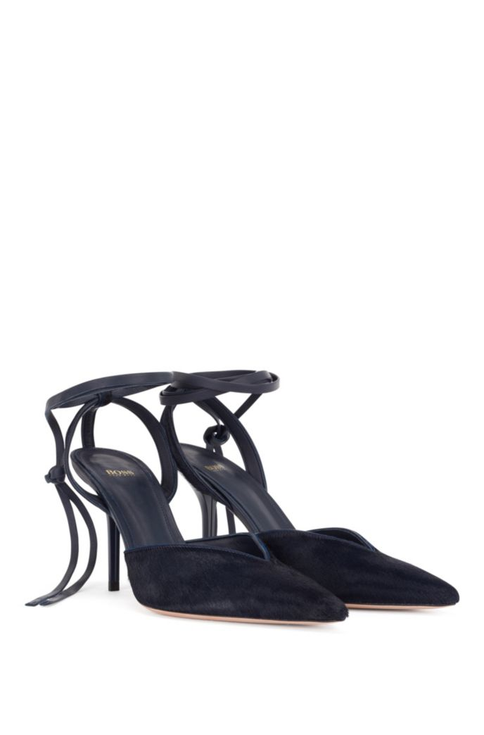 Slingback pumps in calf hair with leather sole