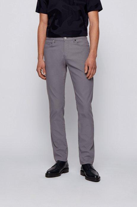 Slim-fit jeans in high-performance denim, Grey