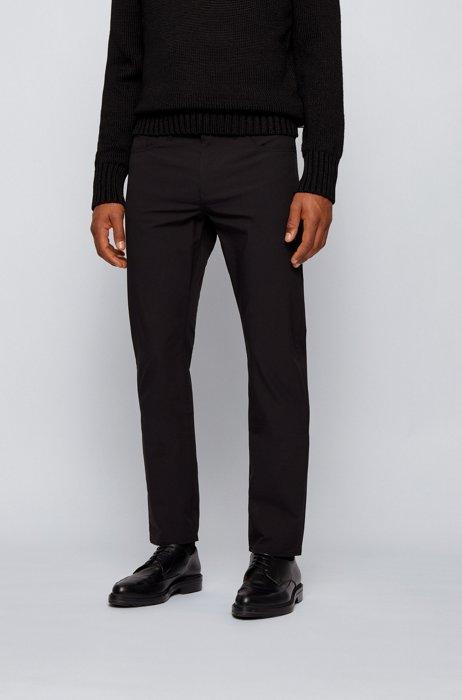 Slim-fit jeans in ripstop stretch denim, Black