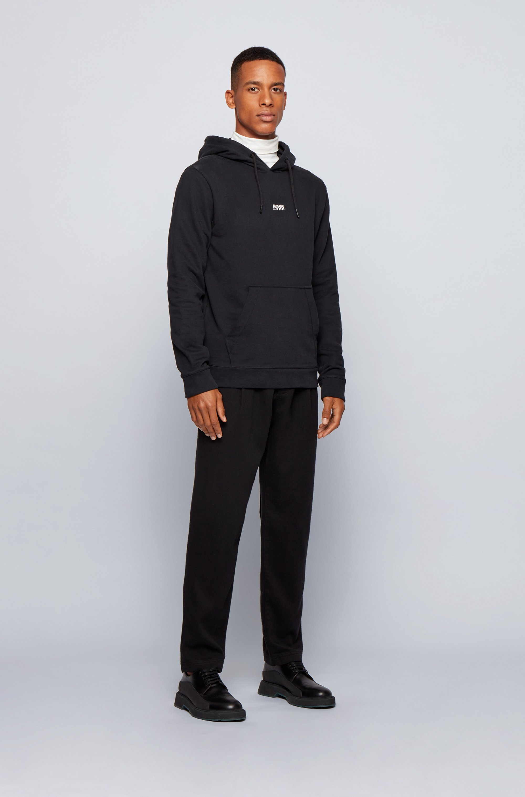 Relaxed-fit hooded sweatshirt in French terry with logo