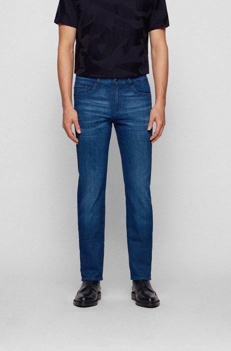 Slim-fit jeans in super-soft Italian stretch denim, Blue