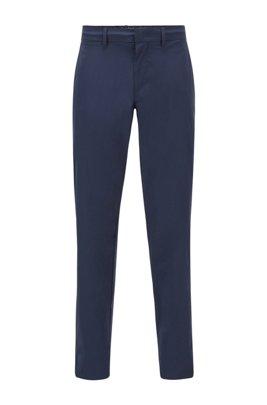 Slim-fit pants in water-repellent stretch monofibre, Dark Blue